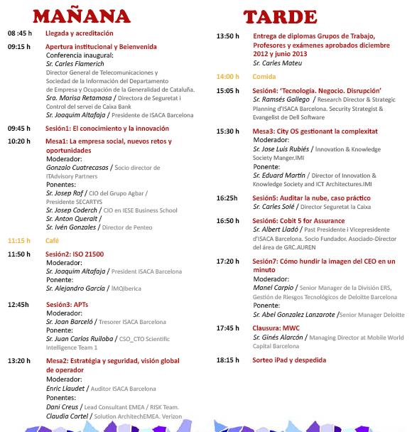 Programa completo 3er Congreso Internacional - Isaca Barcelona