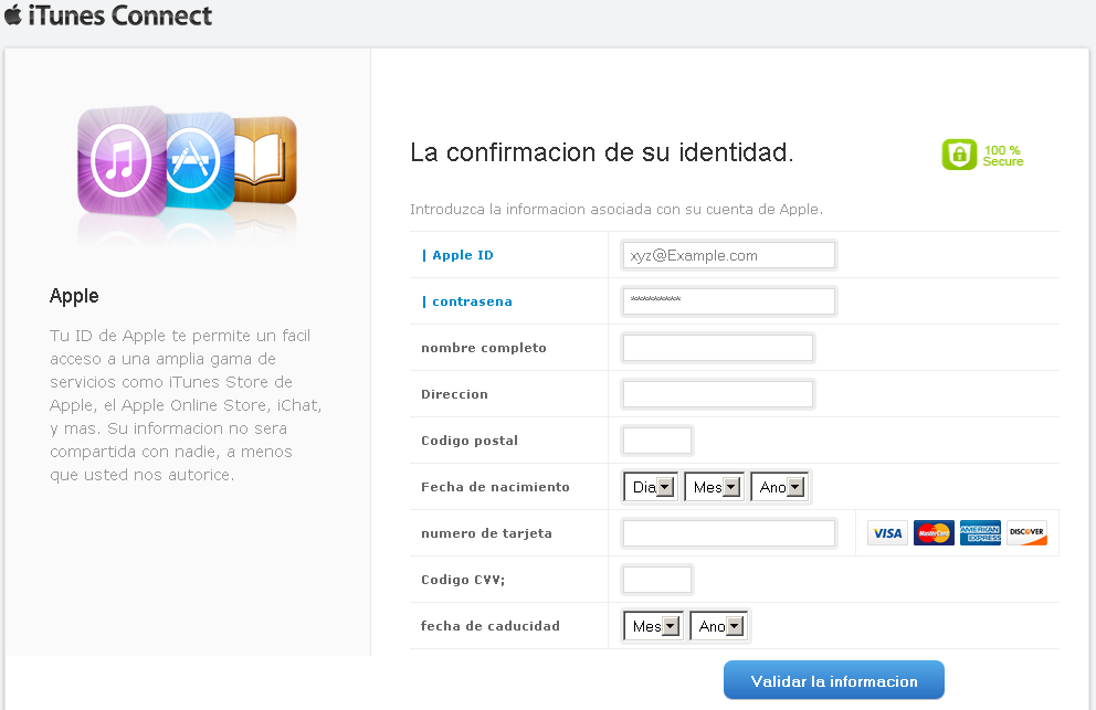 Phishing de Apple