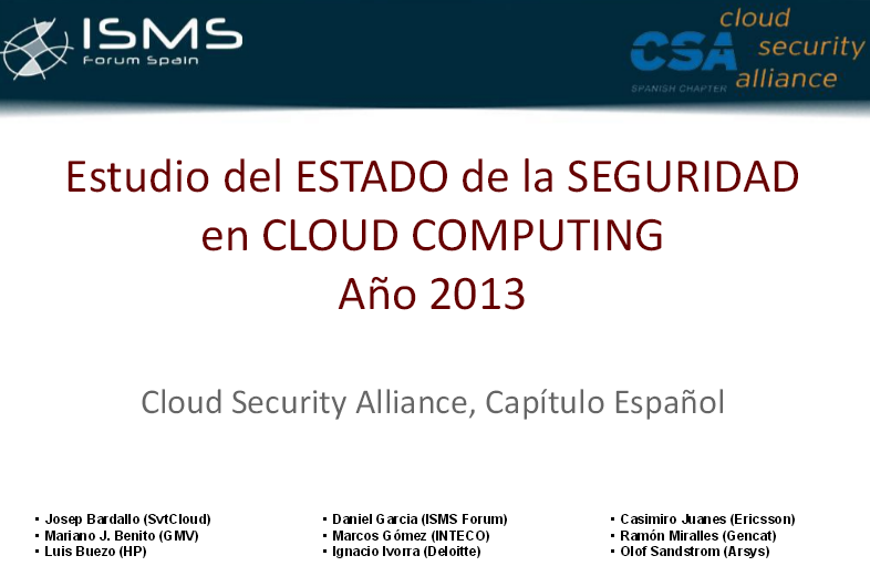 Estudio del Estado de la Seguridad en Cloud Computing